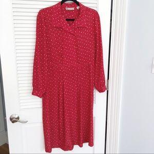 Vintage Lanvin Red Dress